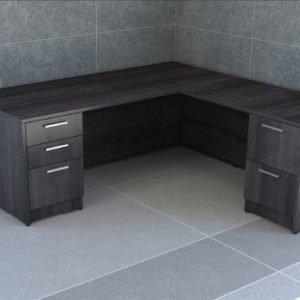 Double Pedestal L-Shape Desk