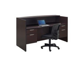 Bow Front Reception Desk
