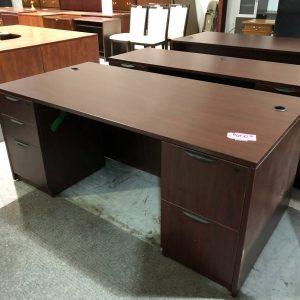 Mahogany Office Desk (Used)