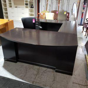 Office Desk U Shape Espresso