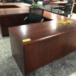 Mahogany Office Furniture U-Shape Desk (used)
