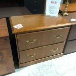 filing cabinet lateral used 2 drawers traditional style