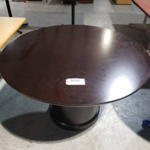 Espresso Round Office conference Table (used)