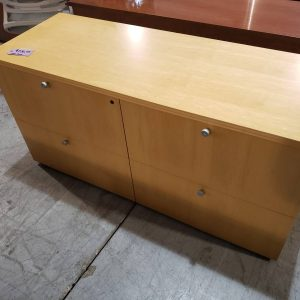 Maple Lateral File Office Credenza (used)