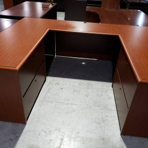 Double Lateral File Office Furniture Desk – 4 x 4 (used)