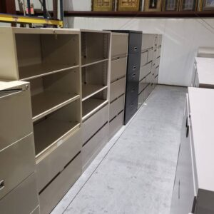 Lateral File Cabinets – 5 Drawer – Commercial Grade (used)