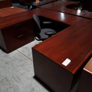 Mahogany U-Shaped Desk