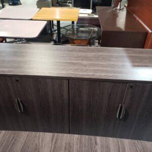 Newport Grey Buffet Credenza Cabinet (used)