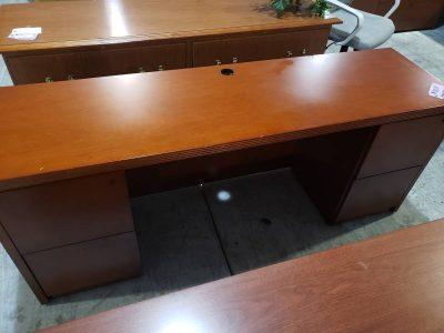 Cherry Credenza Desk