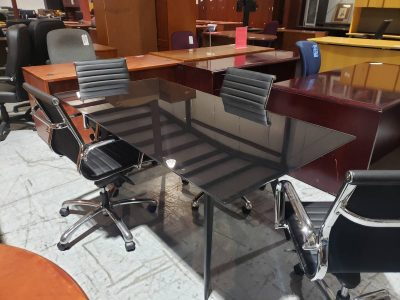black glass conference table used office furniture nashville superior office services
