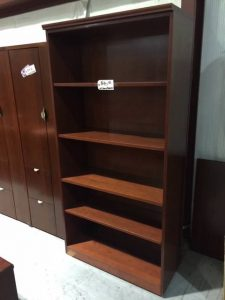 Bookcase cherry finish used office furniture nashville superior office services