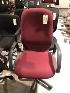 burgundy office task chair used office furniture nashville superior office services