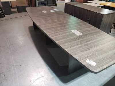 12' Grey Conference Table