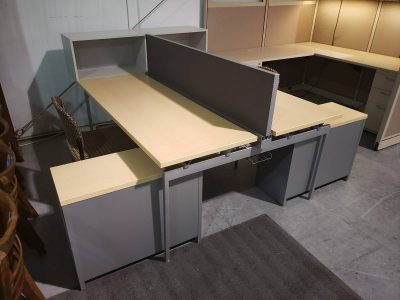 knoll antenna dual cubicle station used office furniture nashville superior office services