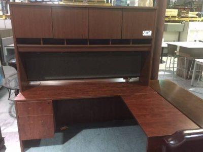 L-shaped desk used office furniture nashville superior office services